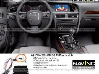 Navinc: A4 MMI plus 3G TV vrijschakeling / TV Free