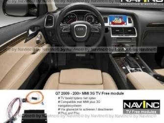 NavInc: Q7 MMI plus 3G TV vrijschakeling / TV Free