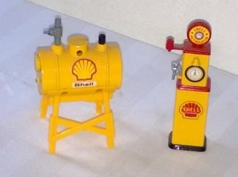 schaalmodel benzine pomp en benzine tank