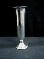 verzilverd vaasje, jr'50,15 cm hoog,niet gestempeld,zgst