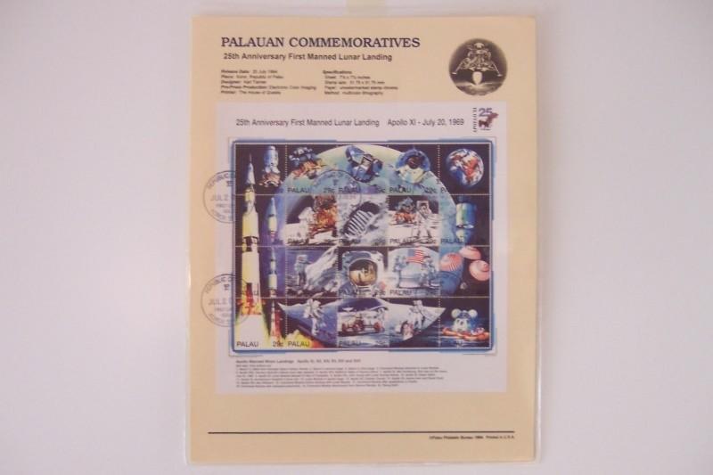 Postzegels: 1x sheet Palau met beschrijving, ruimtevaart.