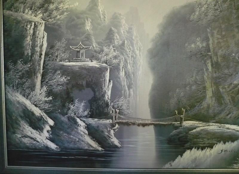 Olieverfschilderij Gustave Doré style. €7,50