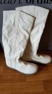 Witte laarzen maat 38