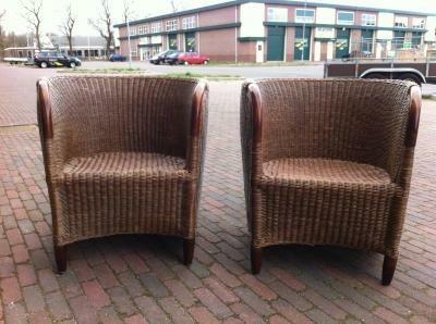 Degelijke rotan fauteuils