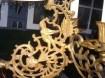 Authentieke schippertje olielamp met kandelaar