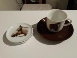 Koffiekopje met schotel van Tirschenreuth + 2 onderzetters