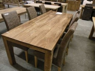 POH tafel strak teak hout 220cm