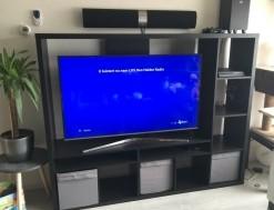 Tv kast Ikea bruin-zwart