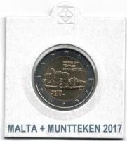 Malta 2 Euro 2017 Hagar Qim met Muntteken in Munthouder
