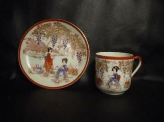 Mocca kopje chinees porcelein niet antiek