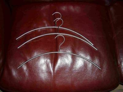 RVS kledinghanger 3 stuks
