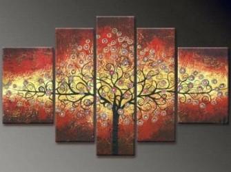 """Nieuw Origineel Olieverfschilderij """"Yggdrasil"""""""