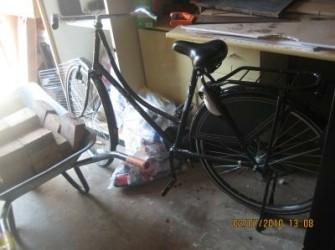 splinternieuwe opoe fiets