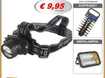 hoofdlamp 3 LED lampjes hoofdlampen hoofdlampje