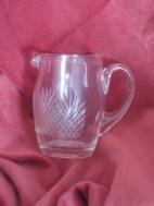 Oud glazen/kristal Melkkannetje met oortje