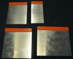 4 Japanse plamuurmessen,50/80/100/120 mm,verenbandstaal,