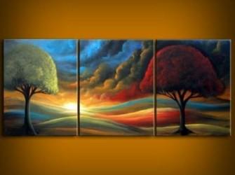 """"""" Zonsondergang """" Origineel  Landschapschilderij"""
