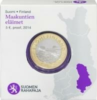 Finland 5 Euro 2014 Savonia Parelduiker Proof