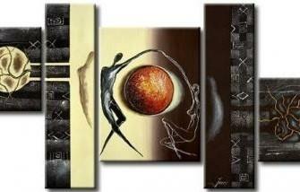 """""""Evenwicht """" Nieuw Olieverfschilderij Op Canvas"""