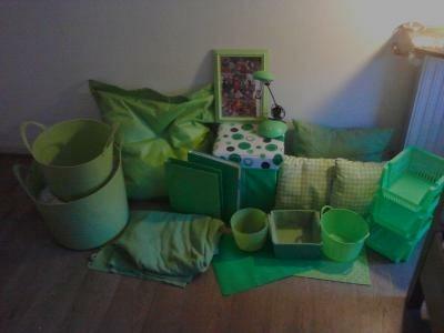 Mooie groene spullen voor een slaapkamer