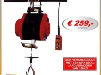lier elektrisch 150kg lieren takel hijsen hijslier