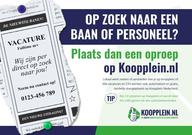 Plaats uw cv of vacature op Koopplein Midden-Drenthe