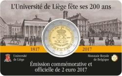 Belgie 2 Euro 2017 Coincard Luik Frans