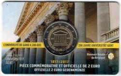 België 2 Euro 2017 Coincard Gent Frans