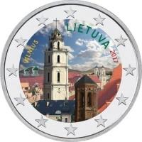 Litouwen 2 Euro 2017 Vilnius Gekleurd