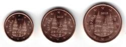 Spanje 1, 2 en 5 Cent 2015