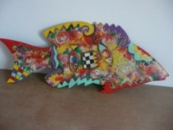 Mooie grote muurhanger vis