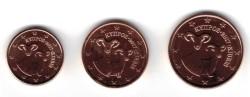 Cyprus 1 + 2 + 5 Cent 2017