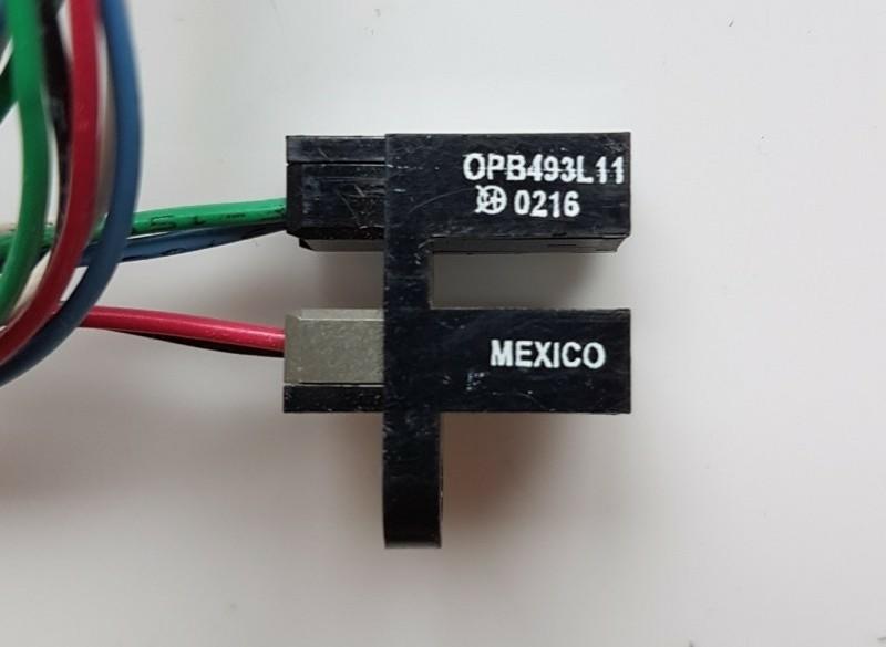 Optische vorklichtsluis, kaartje met SMD IR leds en sensors