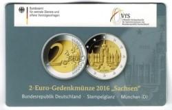 Duitsland 2 Euro 2016 Coincard Sachsen D - München