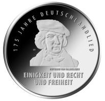 Duitsland 20 Euro 2016 175 Jaar Duitslandlied