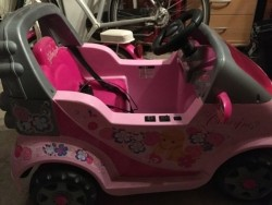 Electrische auto roze 6 volt