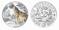 Oostenrijk 3 Euro 2017 Wolf