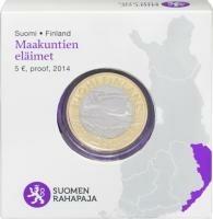 Finland 5 Euro 2014 Karelië Koekoek Proof
