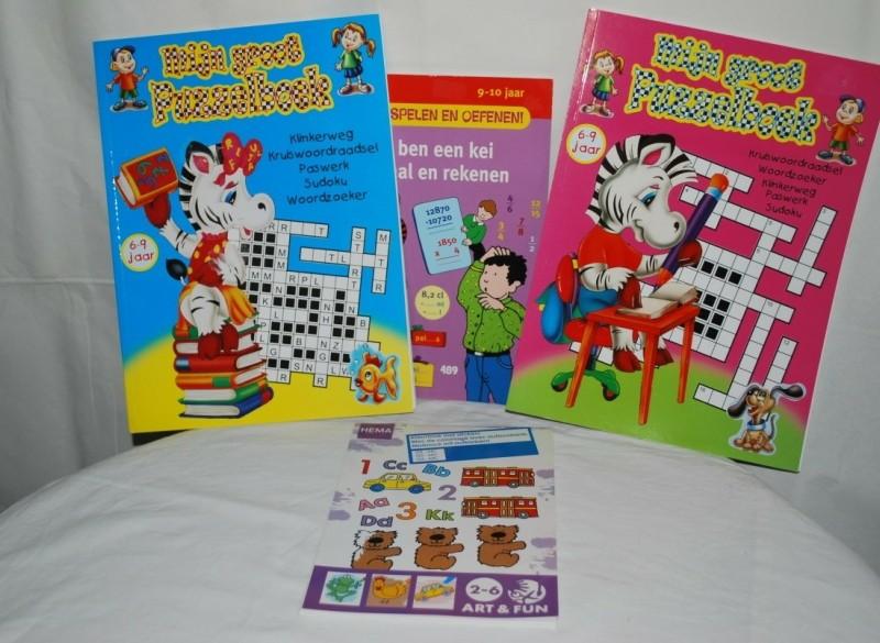 Div. Speelleer/Puzzel Boeken[3,00 perstuk]