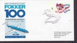 Nederland 1e dagenvelop Fokker 100