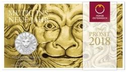 Oostenrijk 5 Euro 2018 Leeuwenkracht Zilver BU