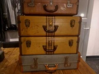 Set van 4 decoratieve vintage jaren 60 hutkoffers