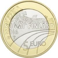 Finland 5 Euro 2016 Langlaufen