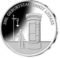 Duitsland 20 Euro 2016 Ernst Litfass