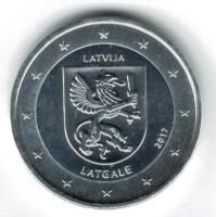 Letland 2 Euro 2017 Letgallen Verzilverd