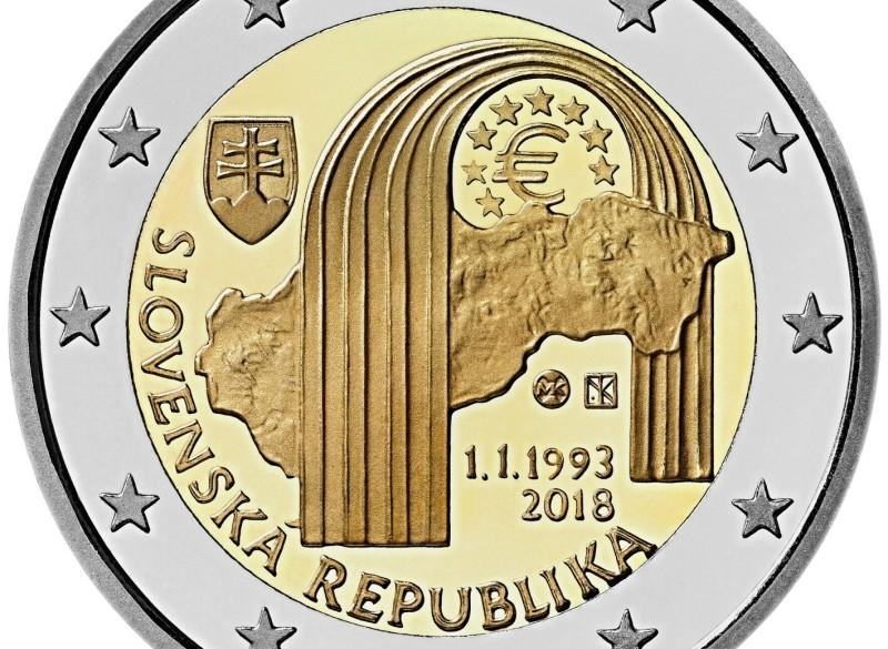Slowakije 2 Euro 2018 25 Jaar Slowakije