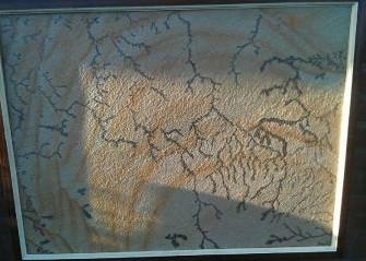 Schilderij van plaat graniet kwarts met dendriet