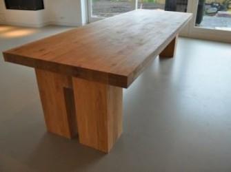 vergadertafel van massief eiken 360x120cm