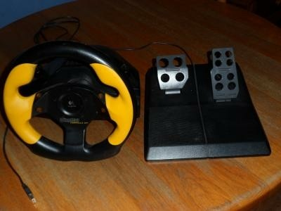 Formula GP Race stuur, met pedalen.