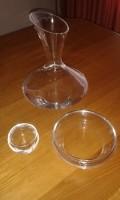 Vaas 1 bonbonschaaltje en 1 theelicht glas